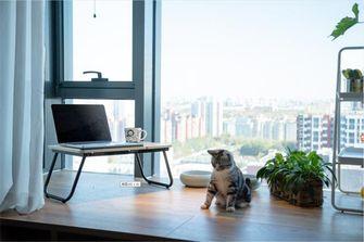 经济型60平米一居室现代简约风格阳台欣赏图