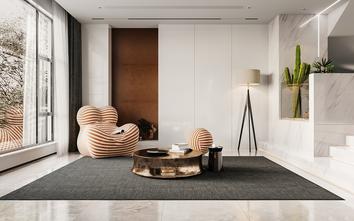 140平米四室一厅现代简约风格阳光房效果图