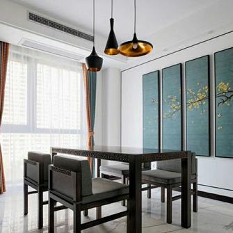 富裕型100平米三室两厅中式风格餐厅装修案例