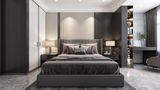经济型110平米三室两厅欧式风格卧室图