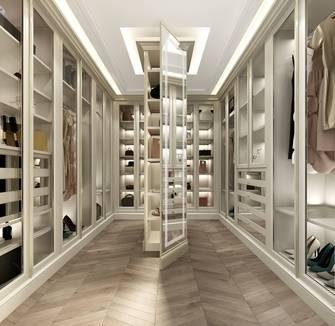 20万以上140平米复式法式风格衣帽间图