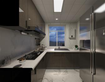 富裕型50平米公寓现代简约风格厨房图片