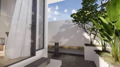 5-10万40平米小户型日式风格阳台图