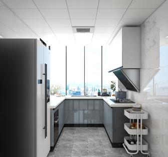 富裕型100平米三室两厅现代简约风格厨房设计图