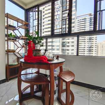 富裕型100平米三中式风格阳台装修案例