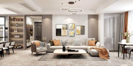 经济型140平米四室两厅轻奢风格客厅图片