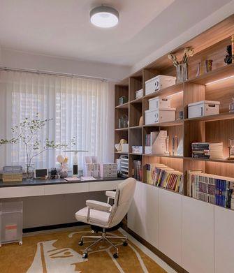 经济型100平米三室两厅现代简约风格书房装修图片大全