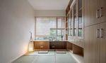 富裕型100平米三室一厅日式风格书房图片大全