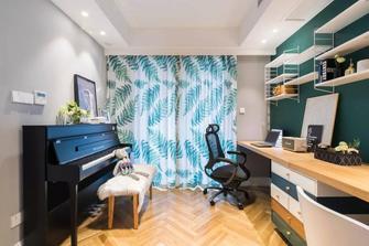 经济型80平米三室三厅北欧风格书房设计图