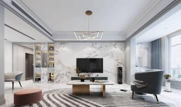 140平米复式现代简约风格客厅图片