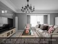 15-20万100平米三室三厅美式风格客厅装修案例