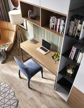 富裕型90平米三室两厅美式风格书房装修图片大全