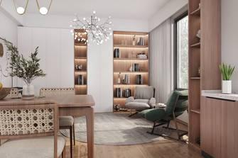 130平米别墅日式风格书房设计图