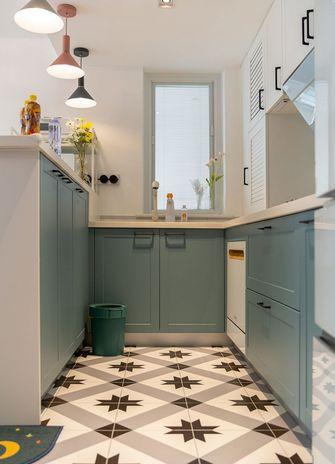 富裕型80平米一室两厅北欧风格厨房图