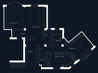 110平米三港式风格客厅设计图