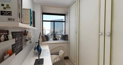 120平米三室两厅中式风格衣帽间图