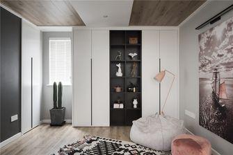 富裕型110平米三室一厅北欧风格储藏室图片大全