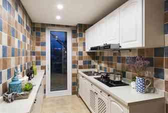 100平米三室两厅地中海风格厨房设计图