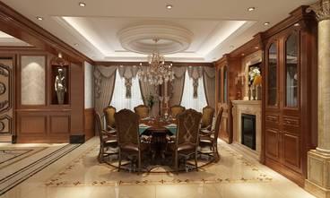 豪华型140平米别墅英伦风格餐厅装修效果图