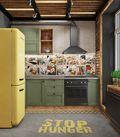 20万以上70平米复式英伦风格厨房欣赏图