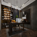 140平米复式欧式风格书房装修效果图