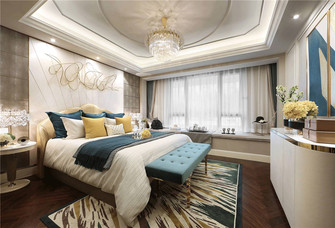 120平米复式欧式风格卧室图片大全