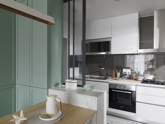 10-15万120平米三室两厅北欧风格厨房图片大全