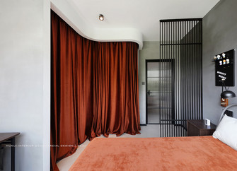5-10万60平米公寓混搭风格卧室设计图