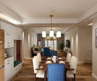 130平米三室一厅混搭风格客厅装修图片大全