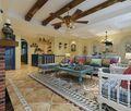 140平米四地中海风格客厅装修效果图