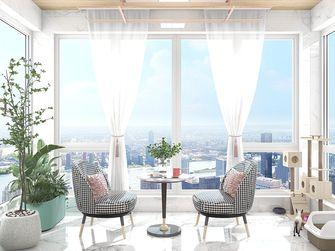 经济型120平米三室两厅法式风格阳台效果图