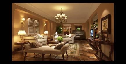 豪华型140平米美式风格客厅图片