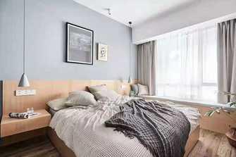5-10万90平米北欧风格卧室装修案例