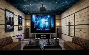 140平米别墅新古典风格影音室设计图