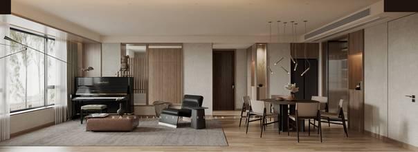 20万以上140平米复式日式风格客厅装修图片大全