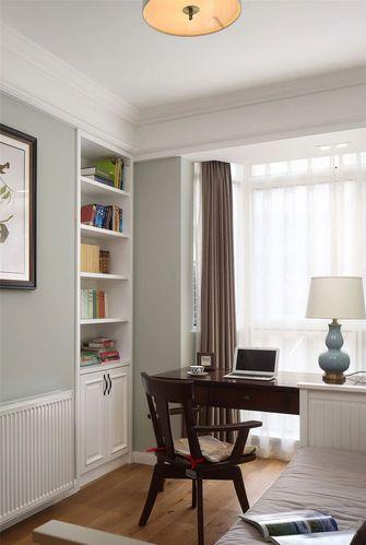 120平米三室一厅美式风格书房装修图片大全