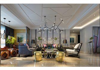 20万以上140平米复式现代简约风格客厅装修图片大全