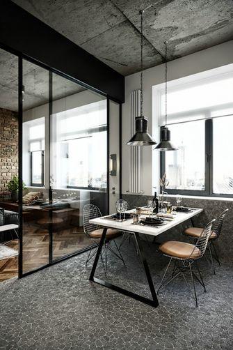 120平米三室一厅工业风风格餐厅图片大全