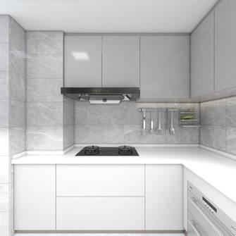 富裕型100平米三室一厅现代简约风格厨房装修效果图