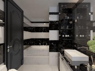 富裕型140平米三室两厅欧式风格卫生间效果图