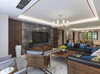富裕型140平米四混搭风格客厅图片
