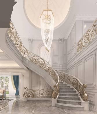 140平米别墅美式风格玄关效果图
