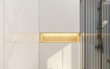 90平米一居室日式风格卫生间设计图