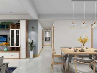 120平米三北欧风格走廊设计图
