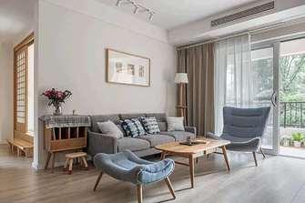 富裕型90平米日式风格客厅装修图片大全