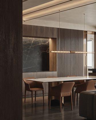 80平米一室两厅轻奢风格餐厅装修图片大全