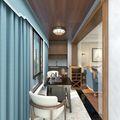 豪华型120平米三室两厅美式风格阳台装修效果图