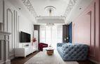 富裕型100平米三室两厅现代简约风格客厅设计图
