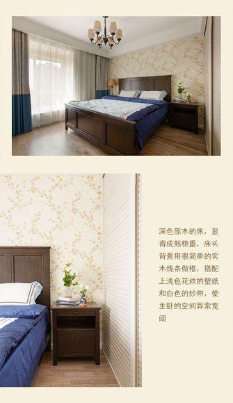富裕型100平米三室一厅田园风格卧室欣赏图