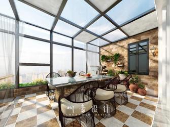 富裕型140平米复式美式风格阳台图片